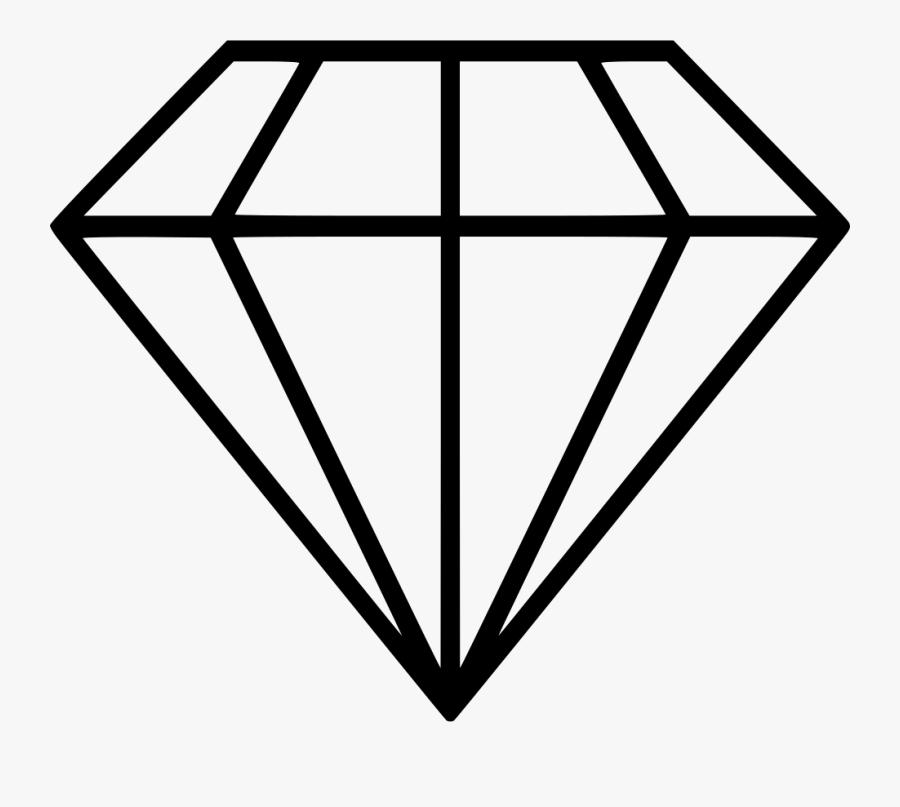 a line drawing of a white princess-cut gem