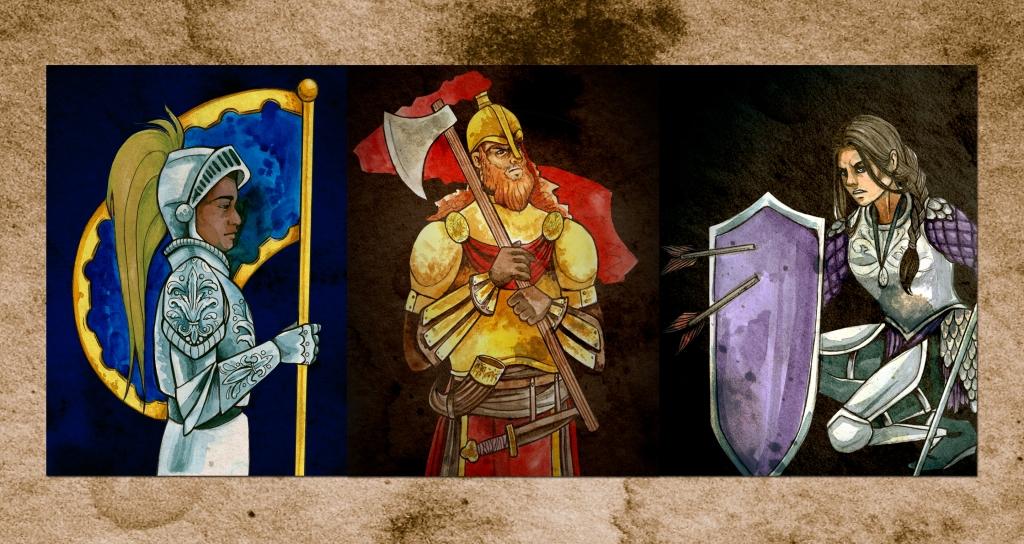 Three knights of Fealty